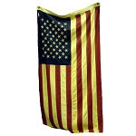 Large 50 Tea-Stained Star Flag