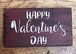 Handmade Red Happy Valentines Day Sign 6
