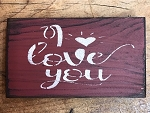 Handmade Red I Love You Sign 6