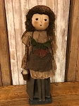 Handmade Doll by Bearing in Love Holding a Radish and Pail with Egg 25