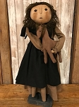 Handmade Doll by Bearing in Love Amish Girl Holding Pony 24