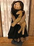 Handmade Doll by Bearing in Love Amish Girl Holding Horse 24