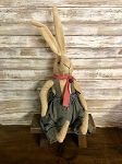 Handmade Plush Bunny Dressed and Scarf 23