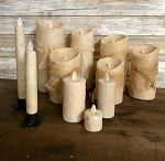 Ivory Moving Flame Candles Battery Operated Timer Flameless