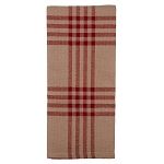 Chesterfield Check Barn Red Kitchen Towel Oat-Barn Red