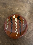 Redware Mini Plate with Hanger Ornament Handmade by SJ Pottery