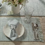 Basketweave Placemat - Barely Blue