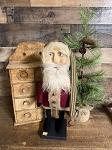 Handmade Santa with Sculpted Face 16