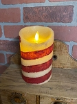 Handmade Candy Cane Moving Flame Realistic 3