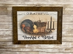 Billy Jacobs Grateful Thankful Blessed Tobacco Lath Framed Artwork 13.5