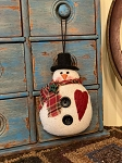 Handmade Snowman with Heart Ornament 5