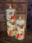 Cardinal & Pine Cone Battery Operated Acrylic Candles 8