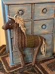 Handmade Wool Large Horse Ornament 10
