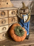 Handmade Orange Primitive Pumpkin with Real Stem 6