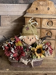 Handmade Scarecrow Tin with Florals 12