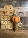 Pumpkin on Antique Bobbin 12