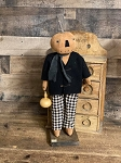 Handmade Pumpkin Boy Doll in Plaid 19