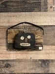 Handmade Pumpkin on Barn Board with Leather Strap 6