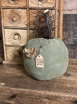 Handmade Green Primitive Pumpkin with Mouse 11