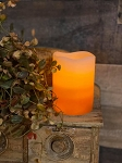 Candy Corn Battery Operated Timer Candle Small 3x4