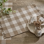 Wicklow Check Placemat - Natural