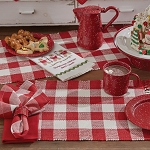 Wicklow Check Placemat - Red&Cream