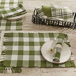 Wicklow Check Placemat - Sage