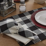 Wicklow Buffalo Check Napkin - Black & Cream