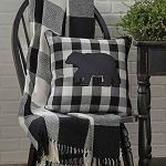 Wicklow Check Throw - Black & Cream