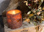 Timer Pumpkin Cake Votive Pillar Battery Operated Small 2x2.25