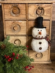 Handmade 2 Tier Snowman Ornament 7
