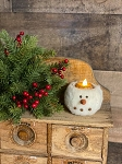 Handmade Snowman Tealight Candle Holder