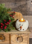 Handmade Hanging Snowman Tealight Candle Holder