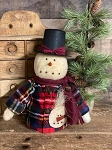Primitive Handmade Snowman Boy with Outfit 14