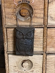 Handmade Wax Blackened Owl Ornament 5