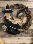 Handmade Primitive Witch Wreath 19