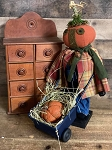 Handmade Pumpkin Pushing Wheelbarrow 19