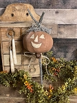 Handmade Pumpkin Head on Stick Poke