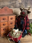 Handmade Reindeer Pushing Wheelbarrow 18