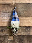 Handmade Christmas Ornament Snowman on PineCone