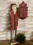 Handmade Primitive Santa in Red 29