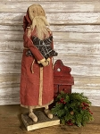 Handmade Primitive Santa in Red 23