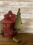 Handmade Primitive Tree with Bells on Base 13