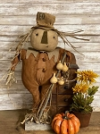 Pete the Scarecrow with Gourds Stands 24