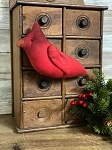 Handmade Red Cardinal Ornament 8