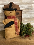 Handmade Primitive Snowman with Crow 16