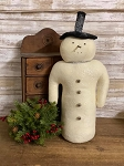 Handmade Vintage Cream Snowman with Glitter 19