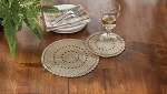 Lace Accent Mat - Set of 2 - Oatmeal