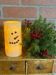 Snowman Timer Candle 3