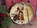 Redware Sgraffito Holiday Plate by SJ Pottery 7.75